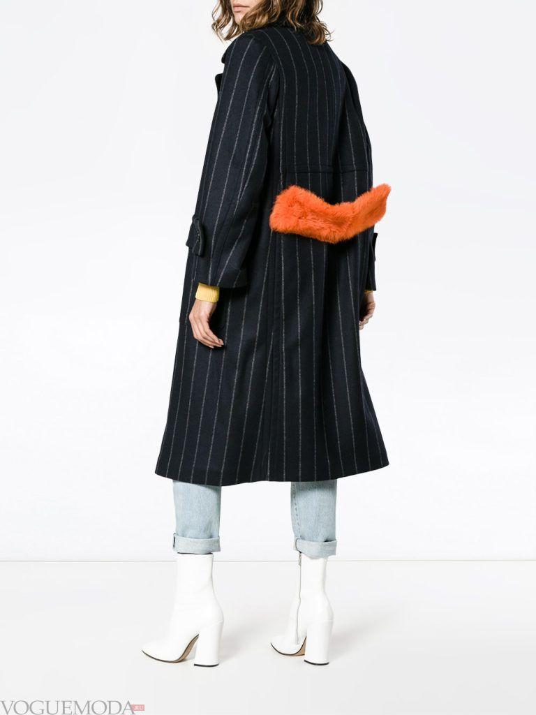 модное пальто оверсайз темное
