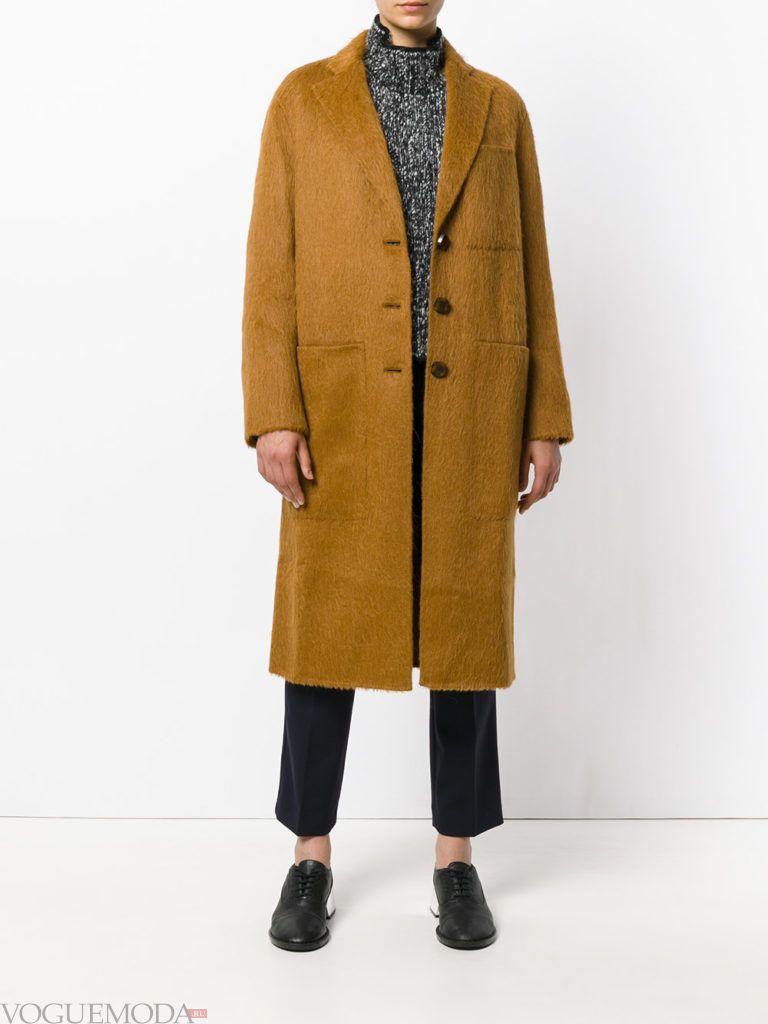модное пальто унисекс цветное