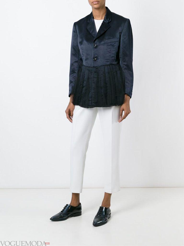 пиджак-пеплум с декором