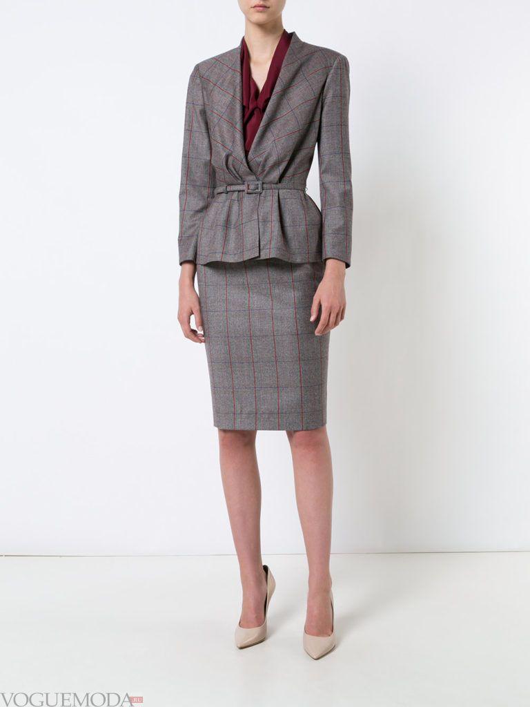 пиджак-пеплум с поясом
