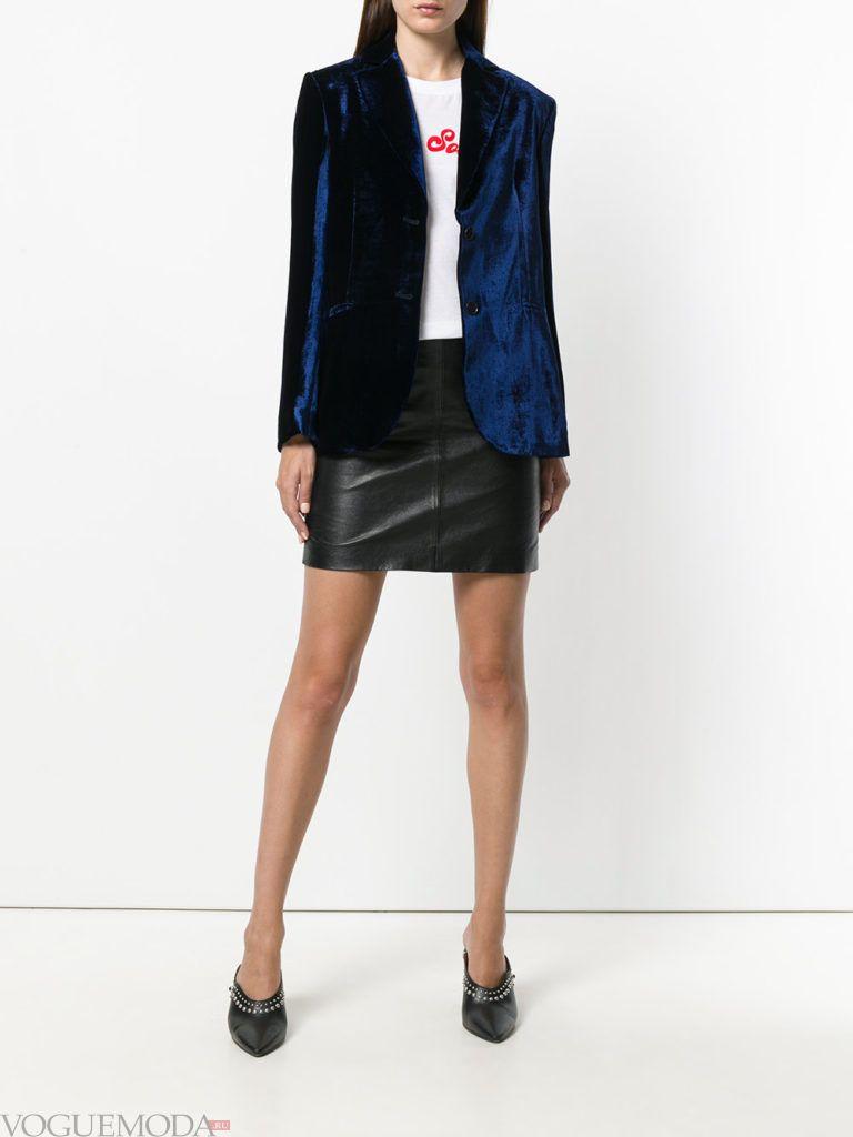 модный женский синий пиджак