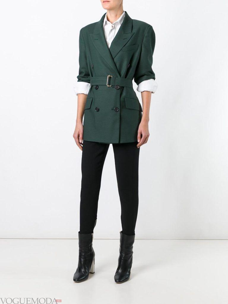 модный пиджак зеленый