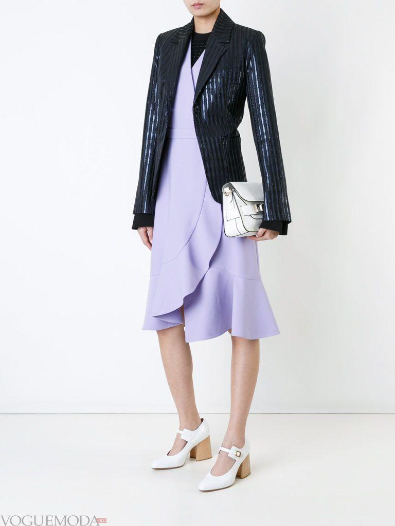 модный пиджак в полоску