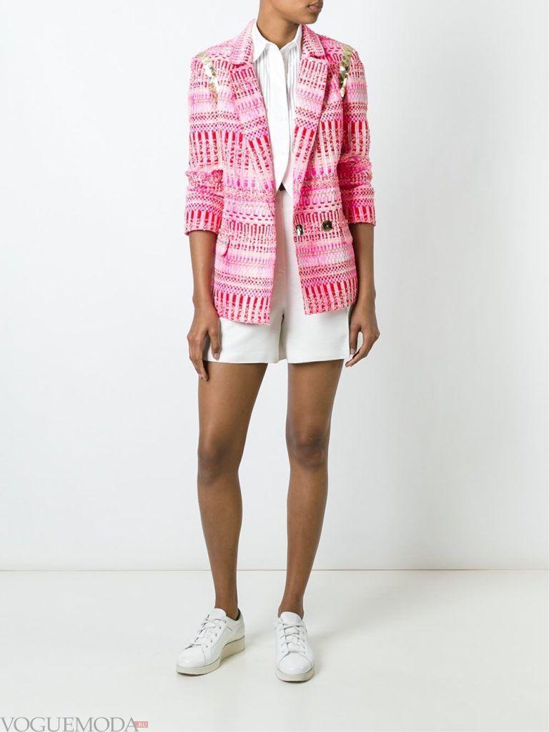 модный женский пиджак яркий