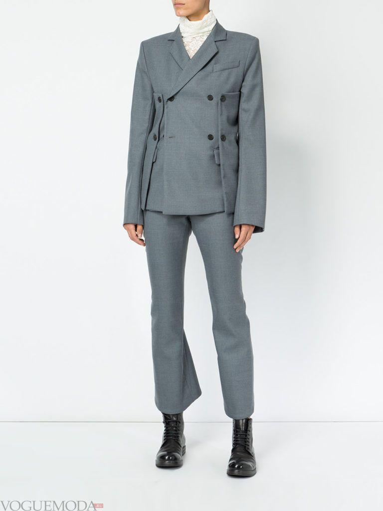 модный пиджак серый