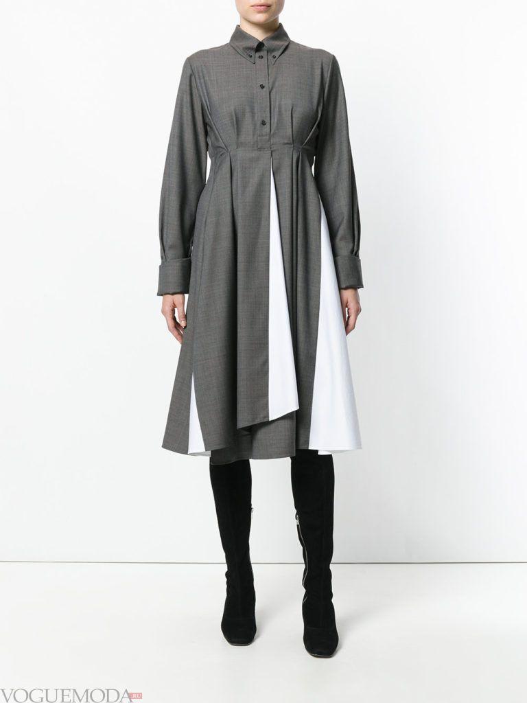 платья с крупными складками двухцветное