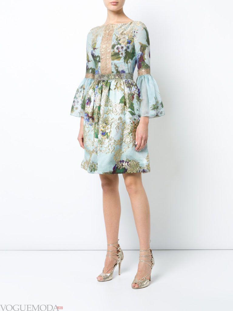 модное платье длины миди пышное