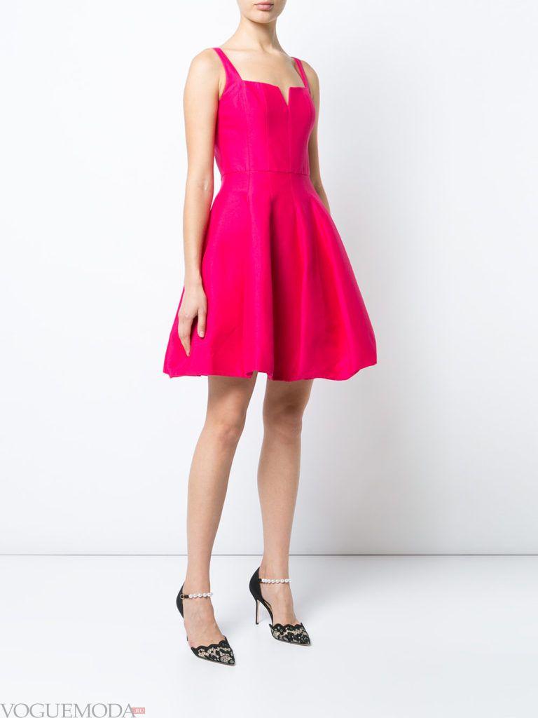 платья с крупными складками розовое