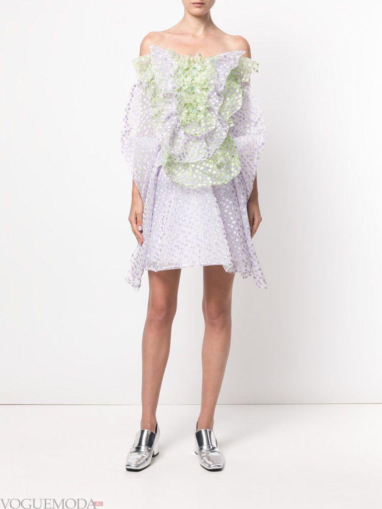модное платье «смок» короткое