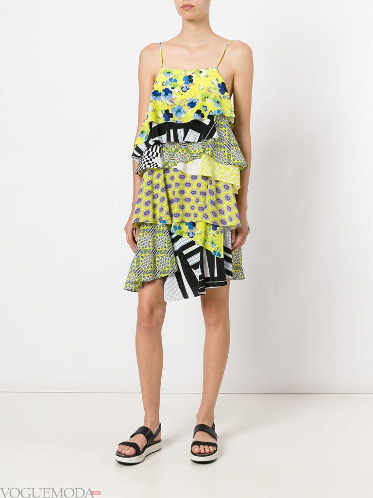 модное платье «смок» цветное