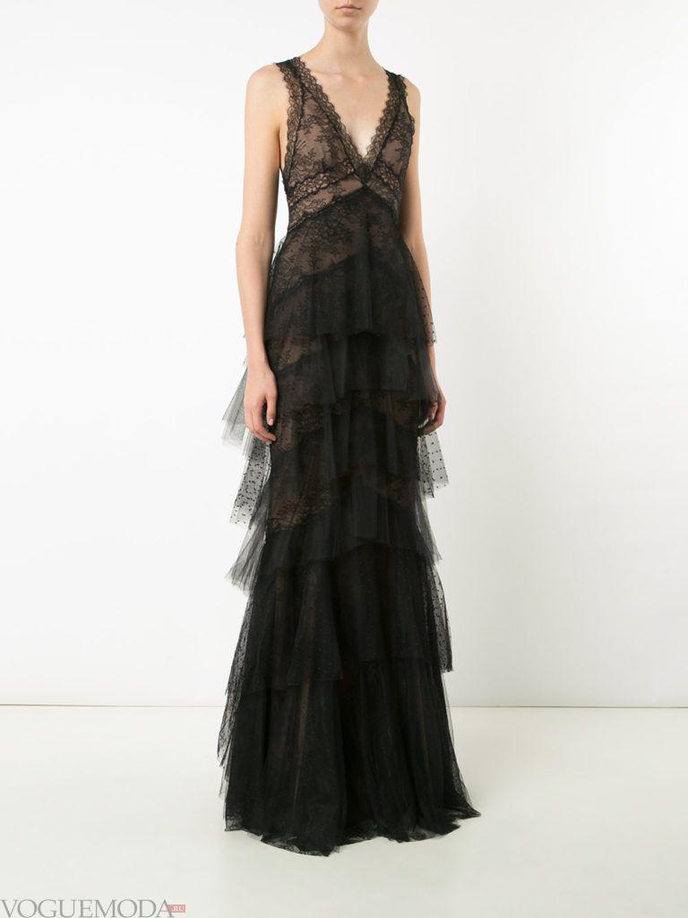 модное платье «смок» длинное