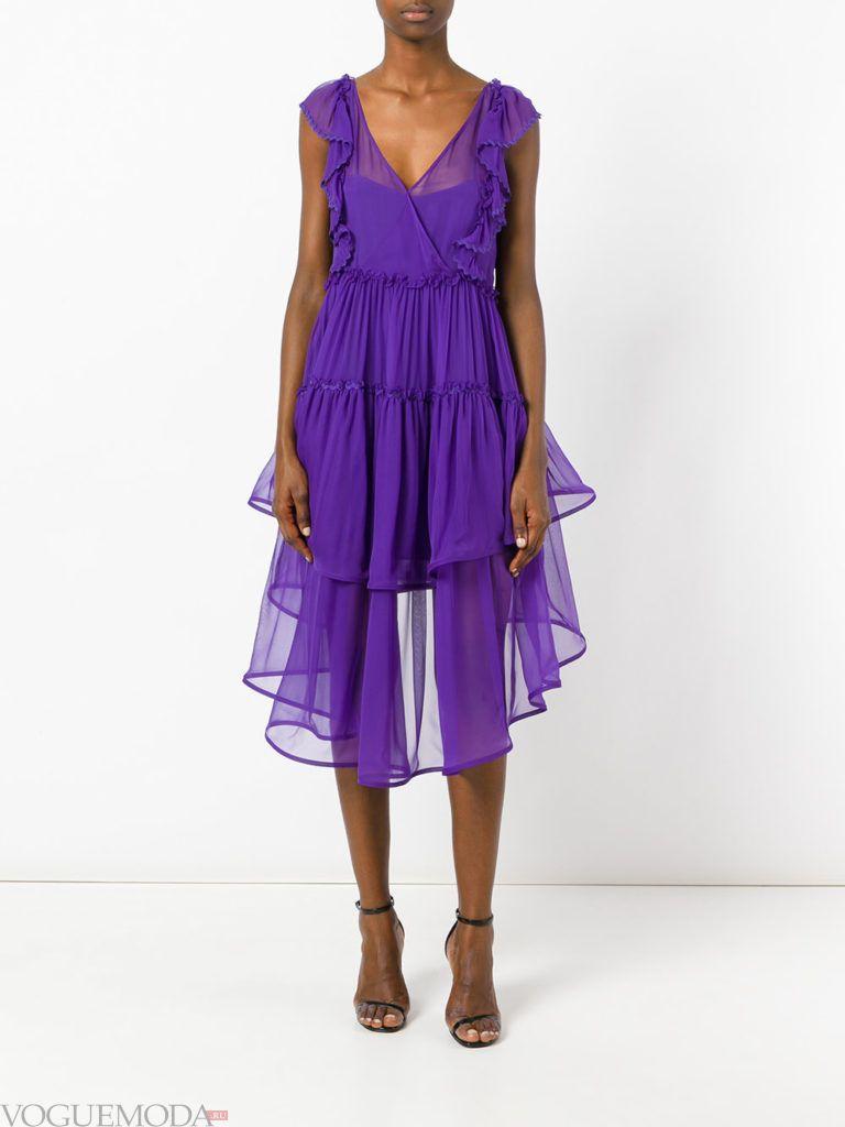 модное платье «смок» яркое