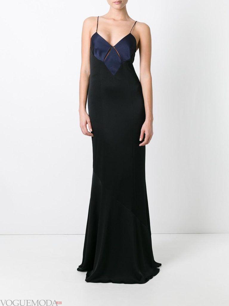 модное платье «годе» темное