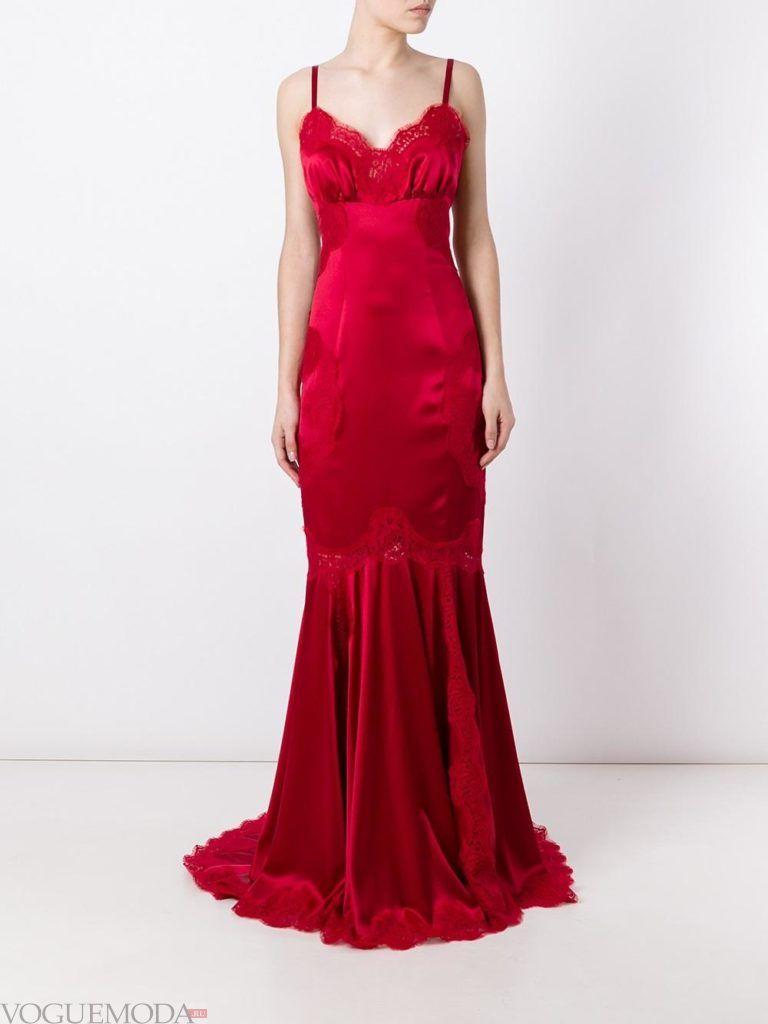модное платье «годе» красное