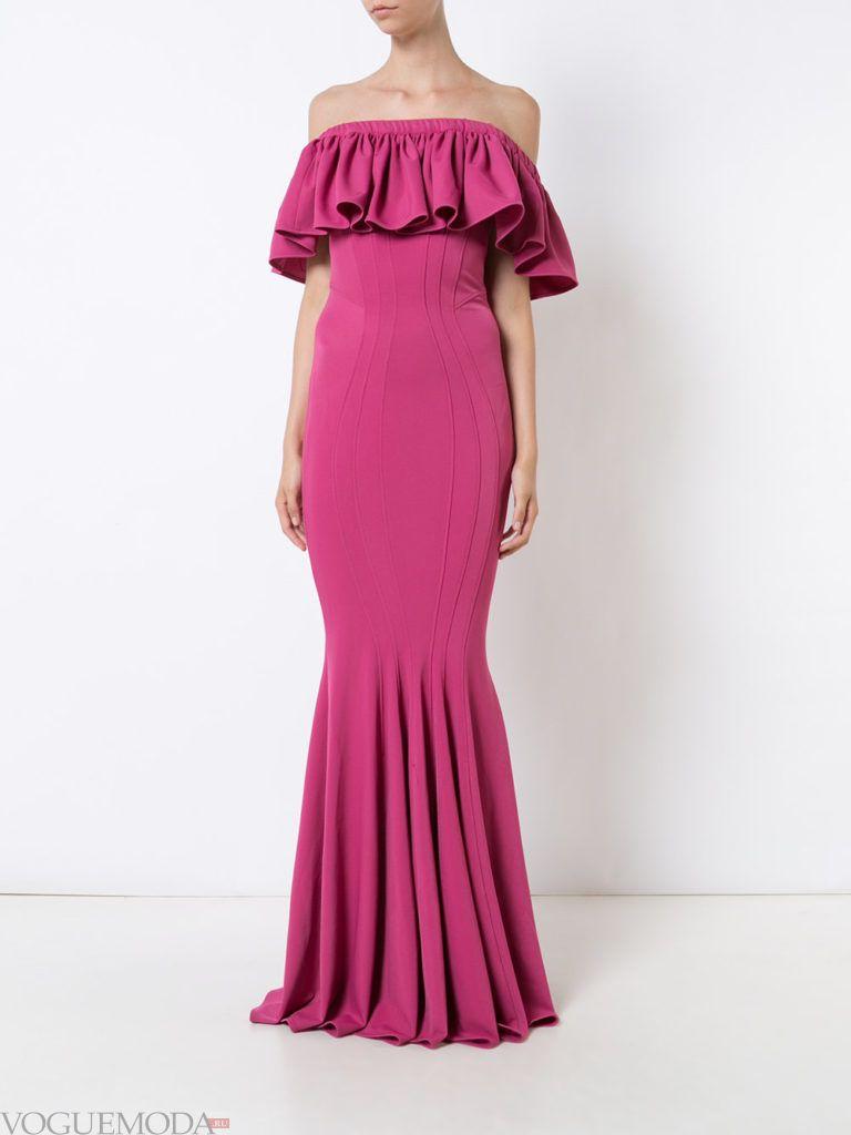 модное платье «годе» с воланом