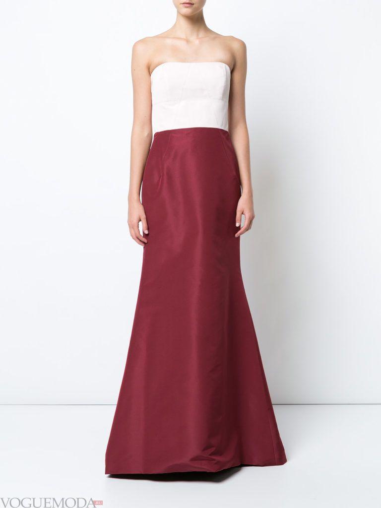 модное платье «годе» двухцветное