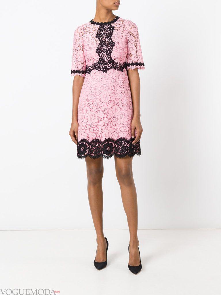 модное платье двухцветное