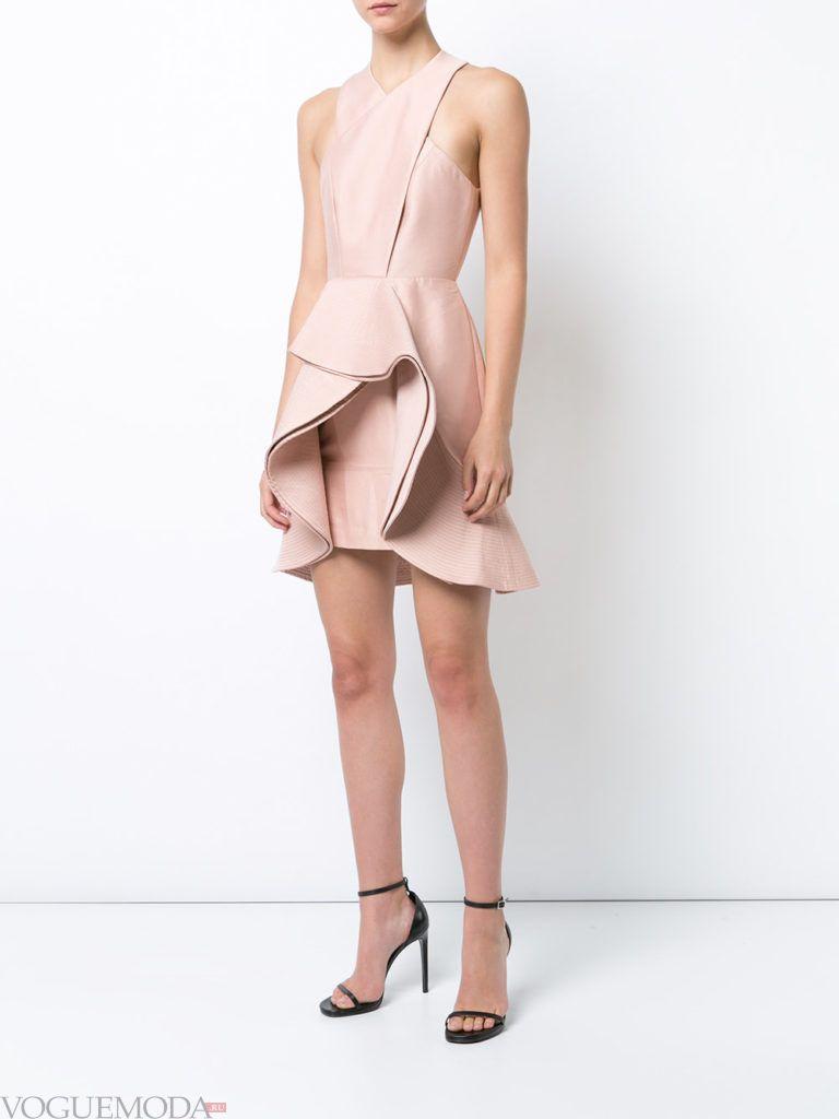 модное платье короткое