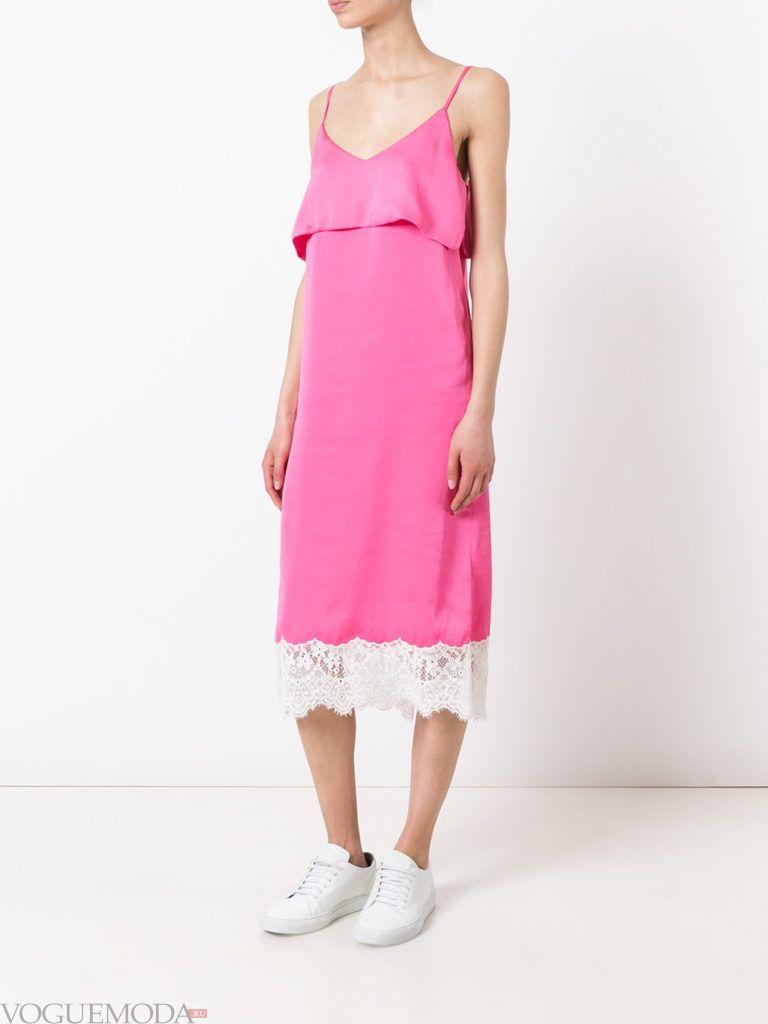 модное платье розовое