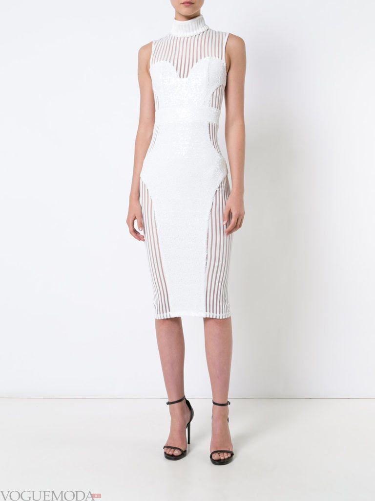 модное платье белое