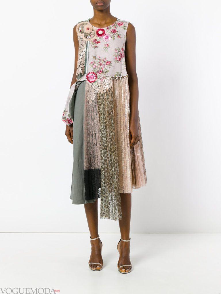 модное платье цветное
