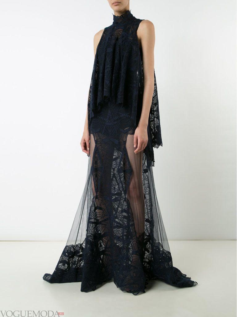 модное платье длинное