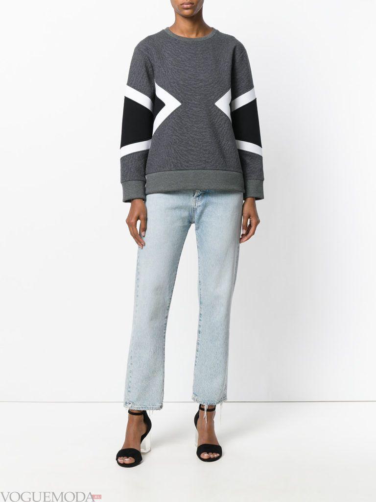 свитер с геометрическим рисунком