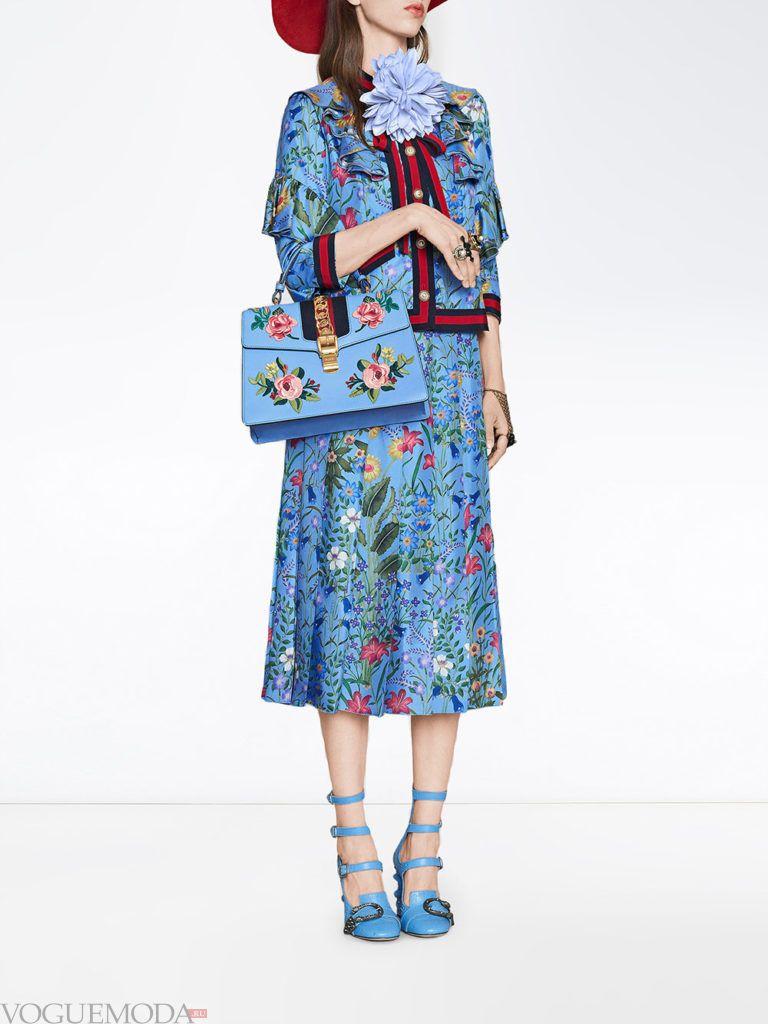 костюм с цветочным принтом