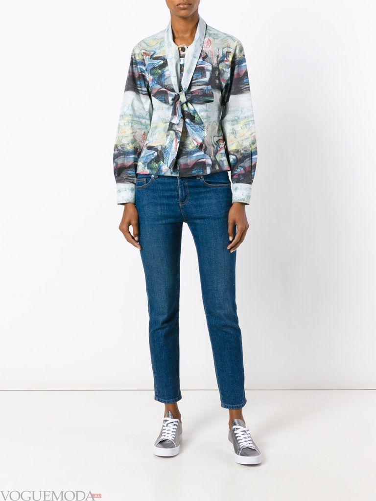 блуза с графическим мраморным принтом