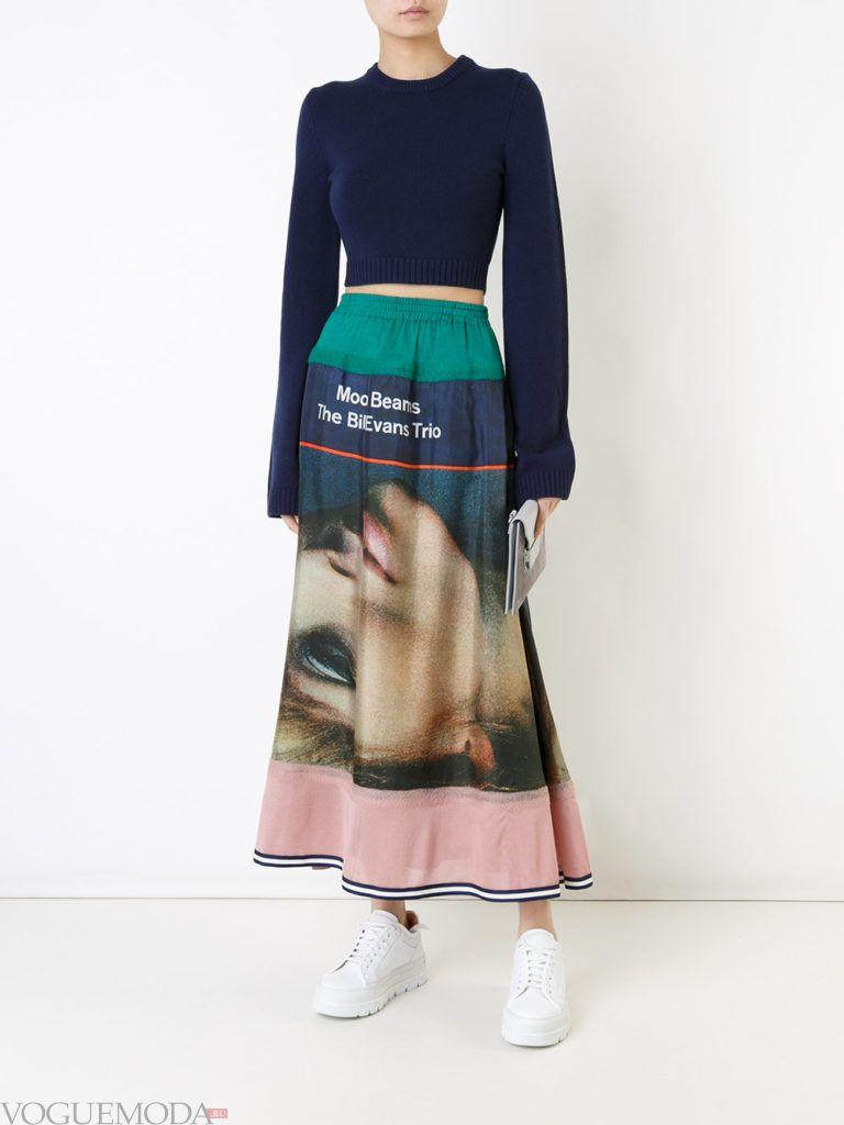 юбка с графическим мраморным принтом
