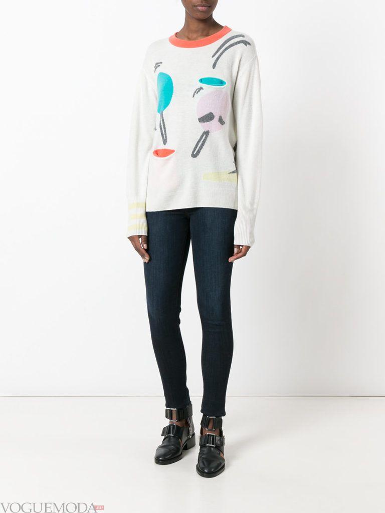 свитер с графическим мраморным принтом