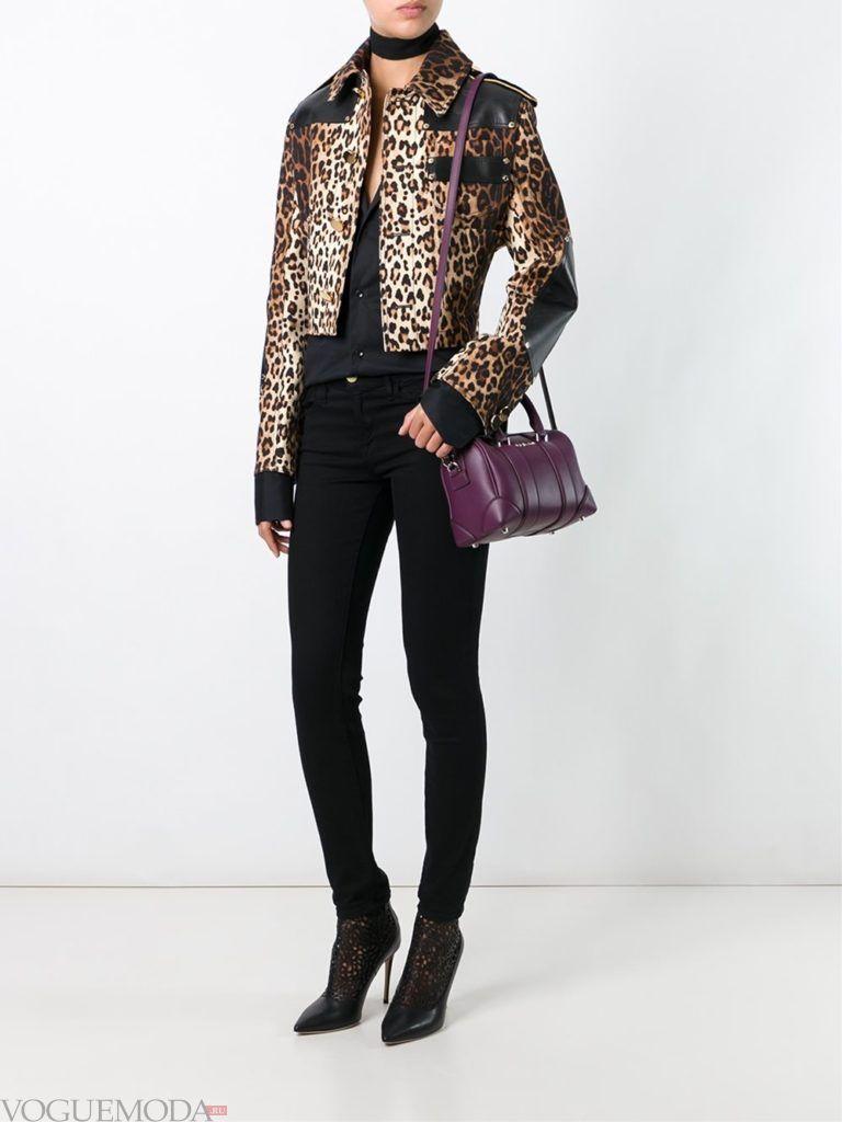 куртка с леопардовым принтом