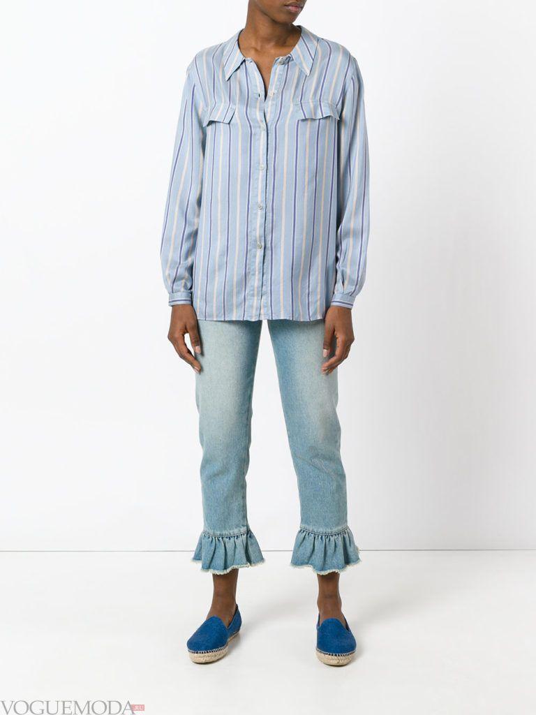 летняя рубашка в полоску