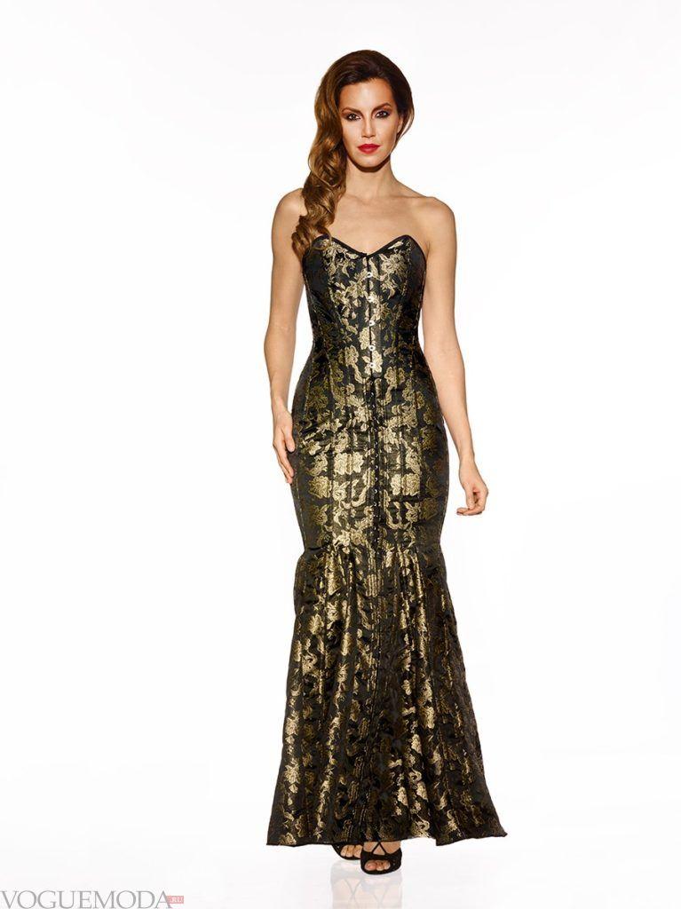 летнее платье с золотыми цветами