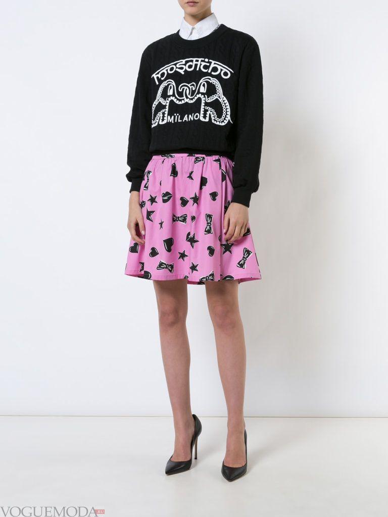 летняя юбка со звездами