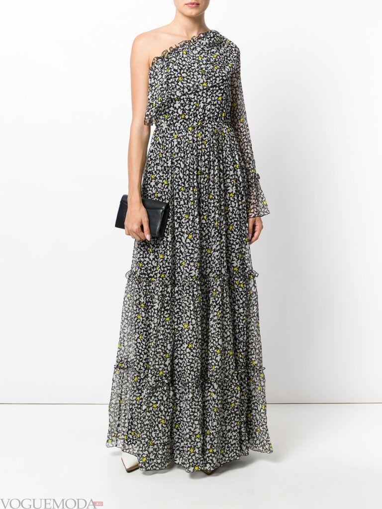 летнее макси платье со звездами