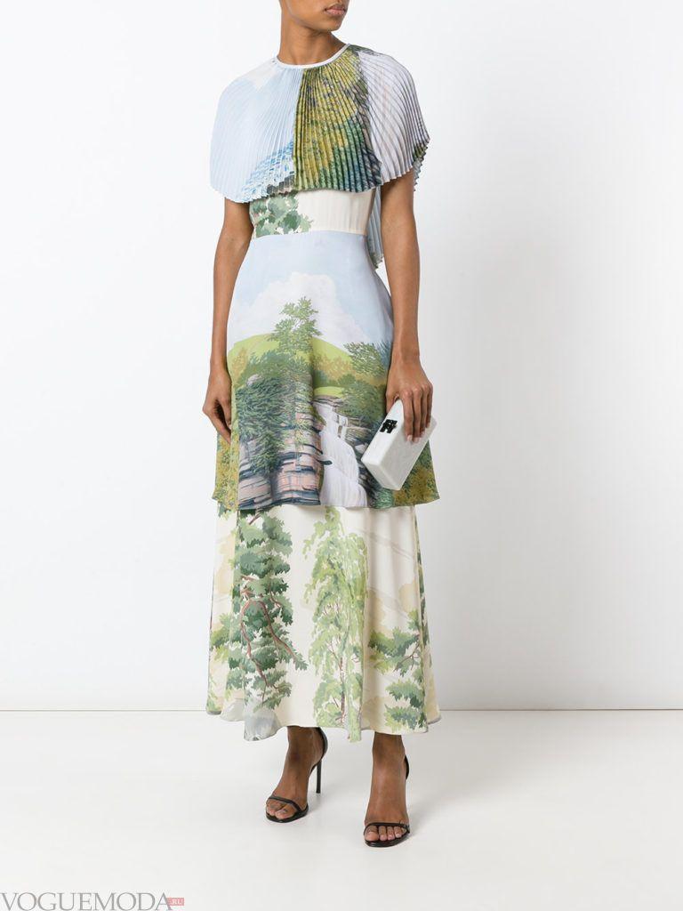 платье с географическим принтом