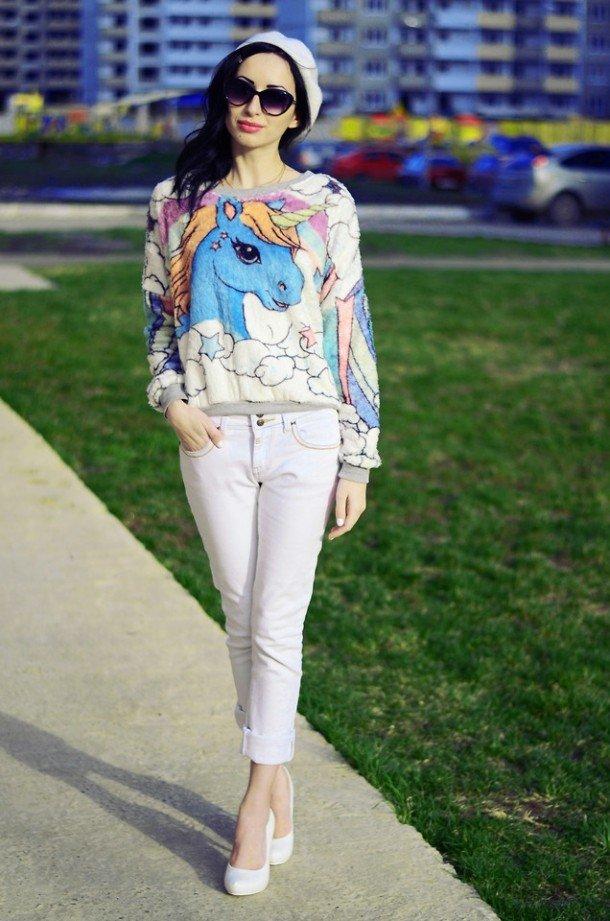 летняя блуза с принтом красочные брызги