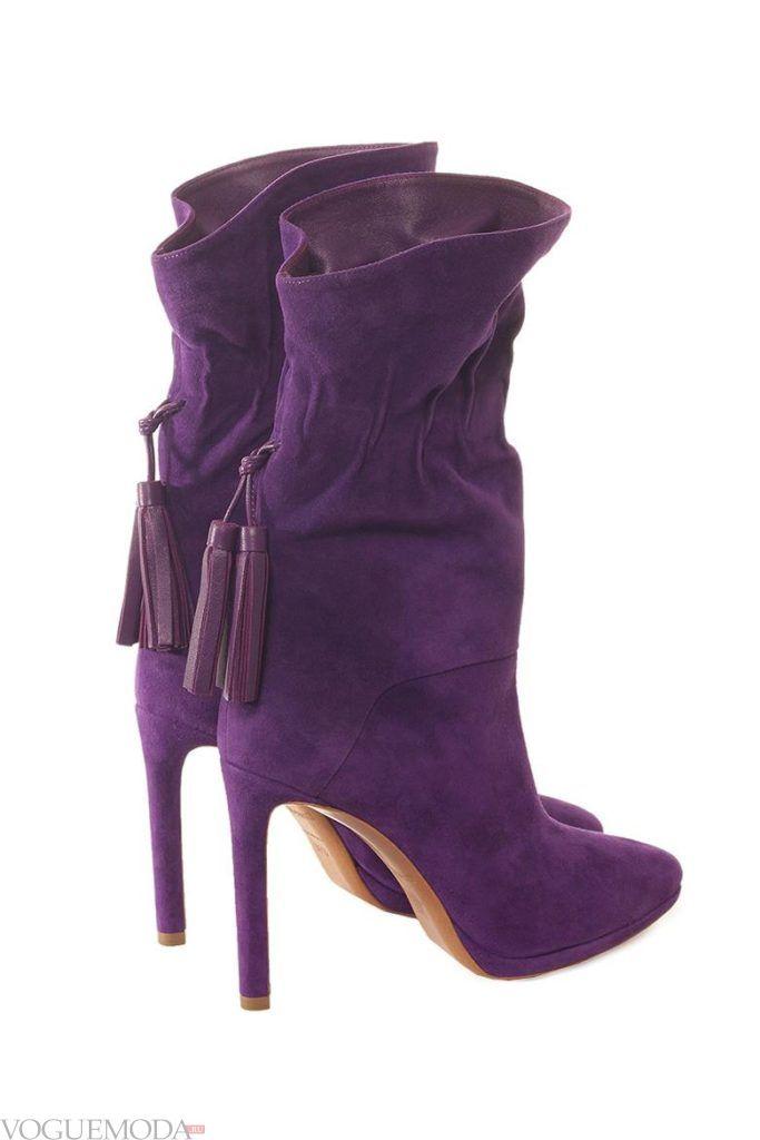 полусапожки фиолетовые