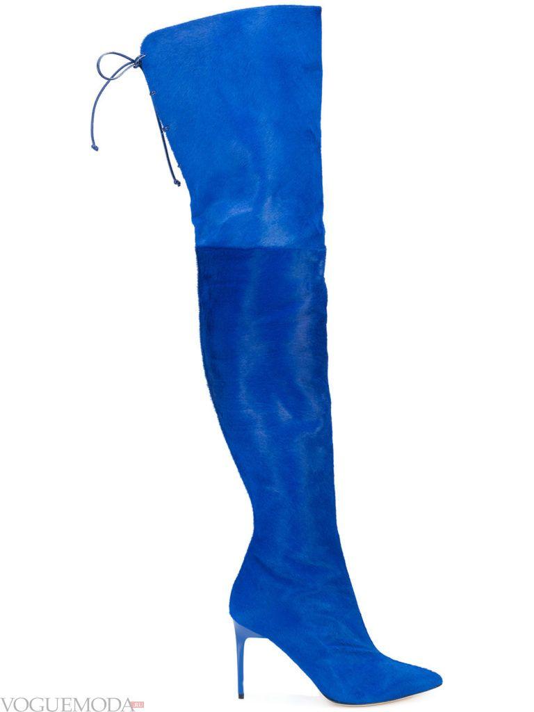 ботфорты синие