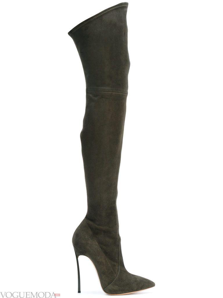 сапоги-чулки темные