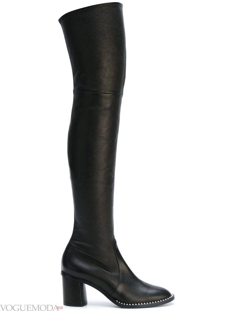 сапоги-чулки черные