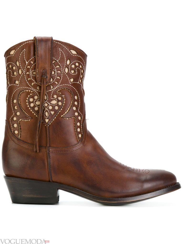 ковбойские сапоги коричневые