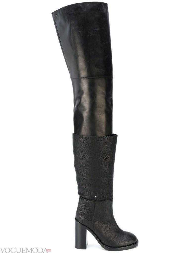 модные сапоги-ботфорты