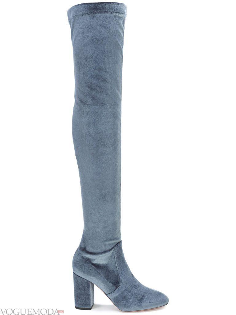 модные весенние сапоги серые