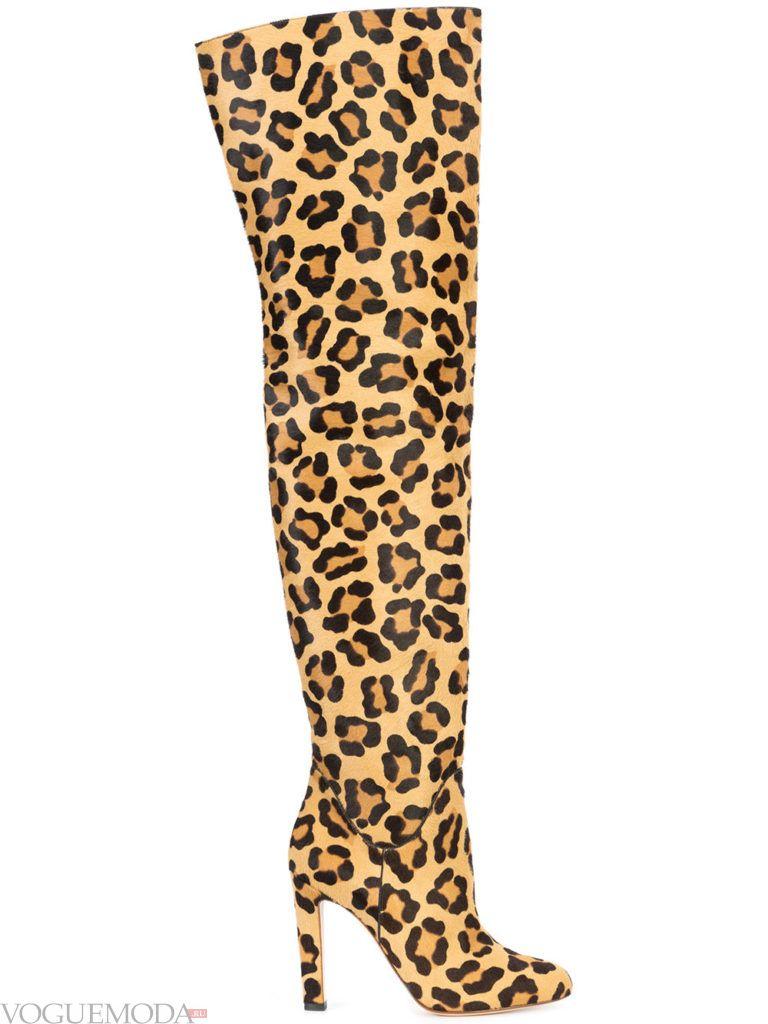 ботфорты леопардовые весна