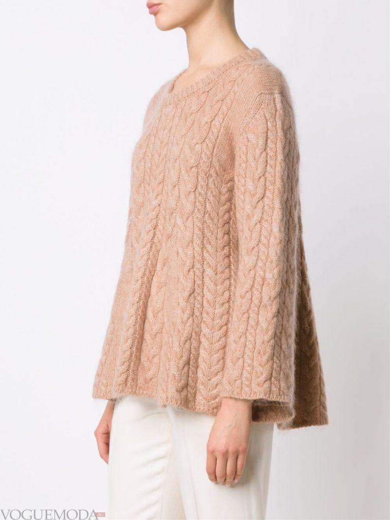 мохеровый свитер нюдовый
