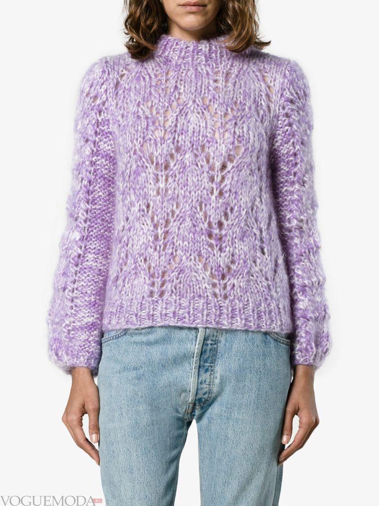 мохеровый свитер фиолетовый