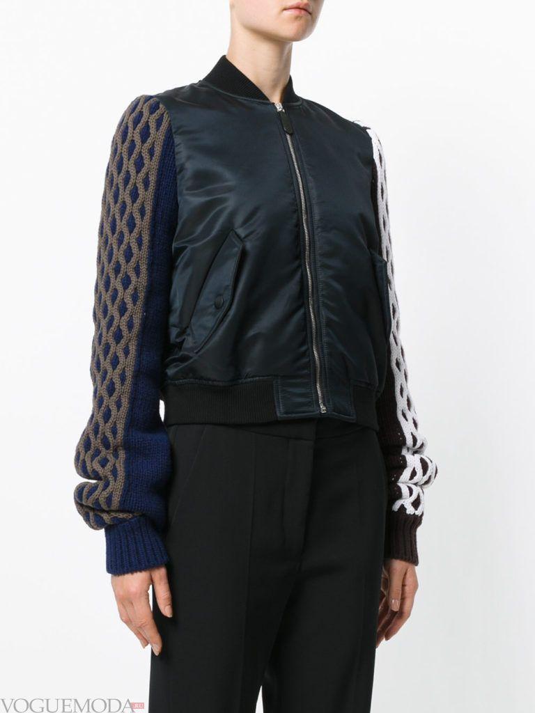 вязаная куртка темная