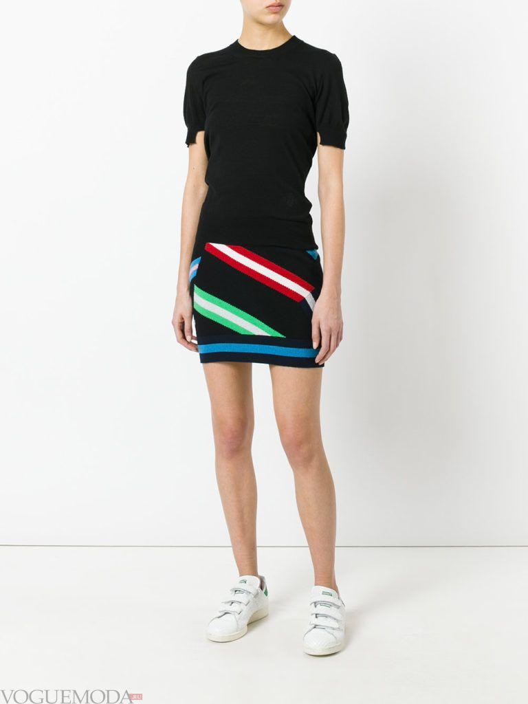 вязаная юбка с рисунком